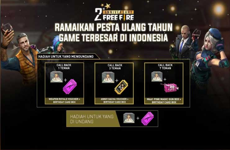 event call back free fire
