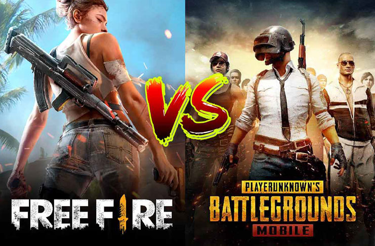 pemain free fire vs pubg mobile